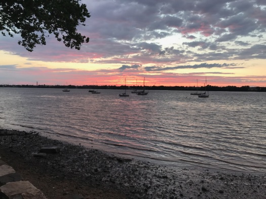 sunset over water 2